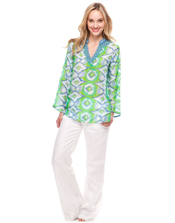 Ikat Tunic - Green