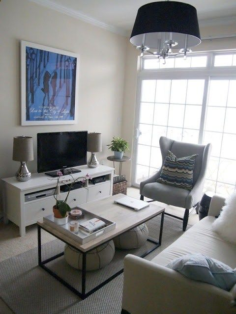 ideas for small living spaces - Apartment Living Room Decor