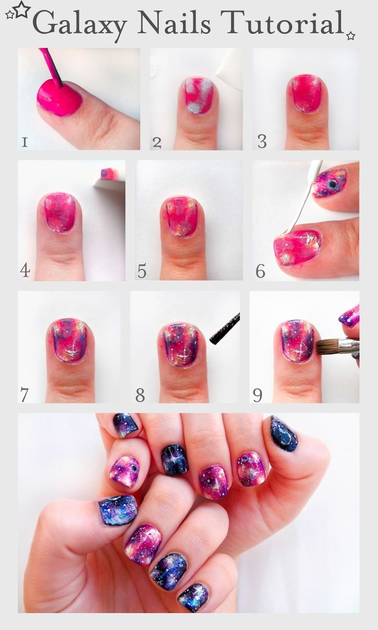 Galaxy Nails Tutorial Nails Diy Craft Nail Art Nail Trends Diy Nails Diy Nail Art Easy Craft Diy