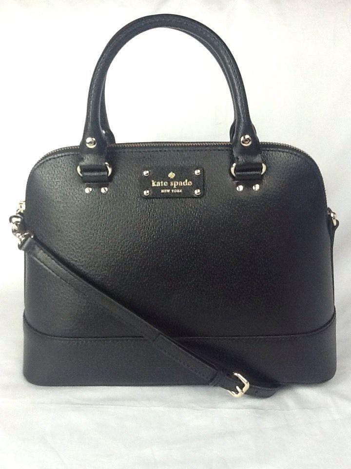 New Kate Spade Small Rachelle Wellesley Black Tote Purse Bag Crossbody Satchel #katespade #Satchel