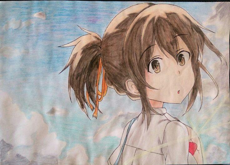 Redraw Fan Art Mitsuha Miyamizu