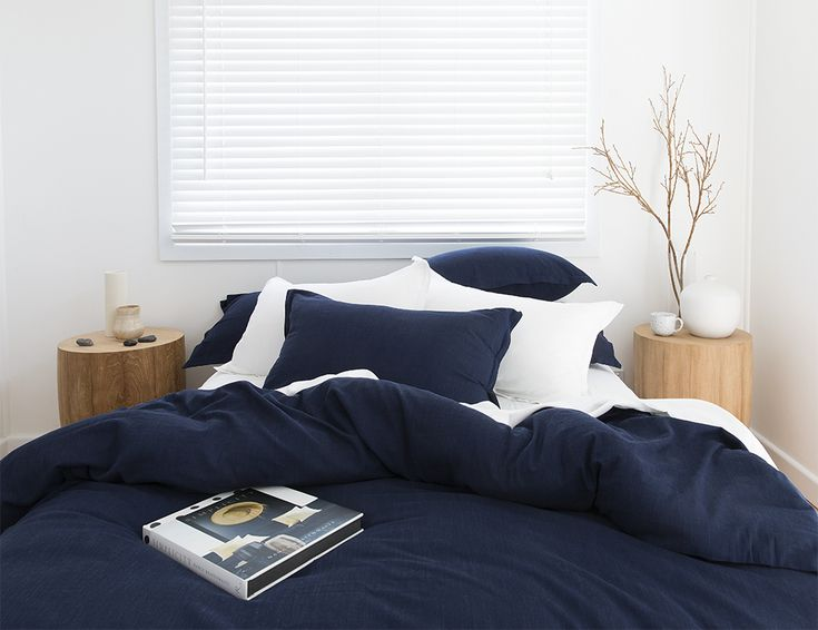 Indigo bamboo quilt cover set from A$220. Love Indigo, it's the new black. Instant Japandi style!