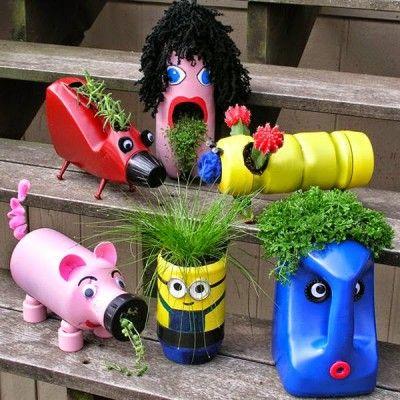 ms de ideas increbles sobre maceteros reciclados solo en pinterest maceteros con botellas plasticas materas en botellas plasticas y macetas de