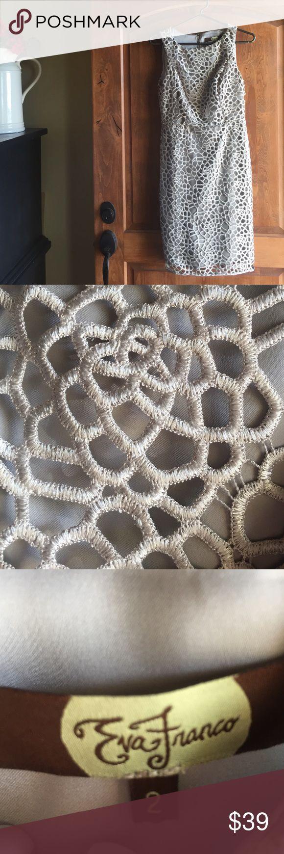 Eva Franco (Anthropologie) silver dress. Size 2 Eva Franco (Anthropologie) silver dress. Size 2 Anthropologie Dresses
