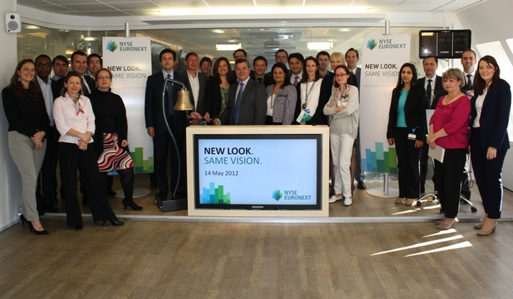 NYSE Euronext rolls out its brand in the Paris office!