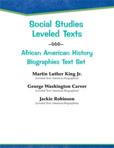 This #leveledtext set introduces students to important figures in African American history! Provided comprehension questions complement the texts. #biographies #socialstudies Reading Level: 1.8 - 4.4