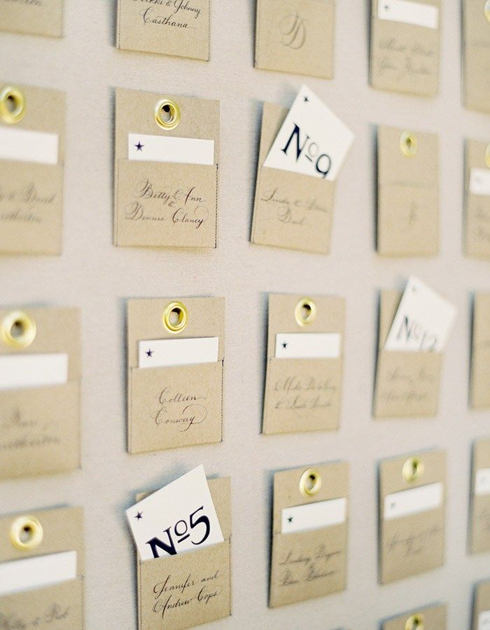 craft ideas for wedding place cards%0A    Brilliant Ideas For Your Wedding Escort Cards      Escort Card Pockets