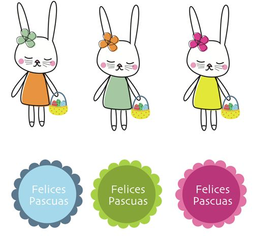Pascua: dibujos de conejitos para imprimir | Ideas y manualidades ...