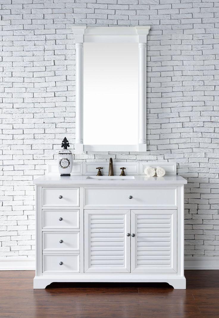 """48"""" Savannah Cottage White Single Bathroom Vanity"""
