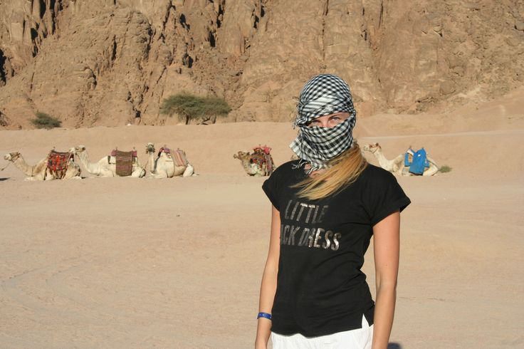 She's the places that she has a desire to visit.  Sharm el Sheikh, Egypt.