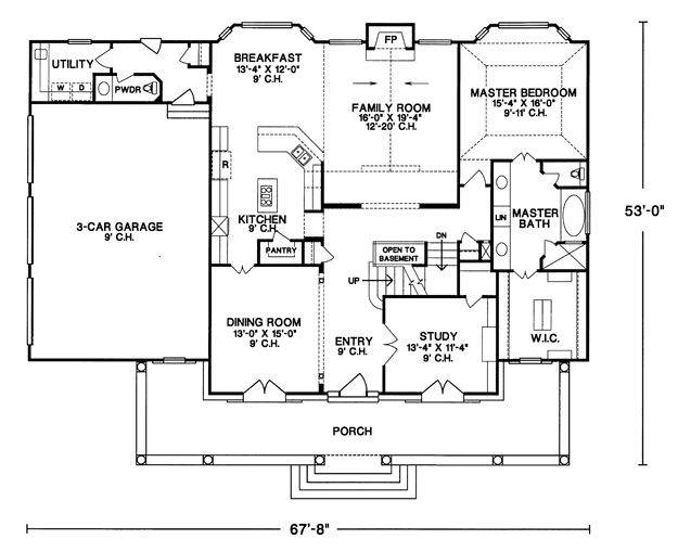 This Plan Is Close To Perfect Master Bedroom On The Main Floor 3 Additional Bedrooms Upstairs