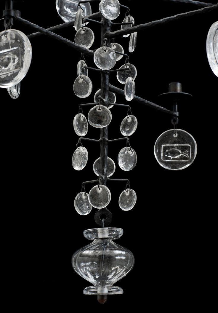 ERIK HÖGLUND, ljuskrona för 12 ljus, Boda Smide.. - Höstens Contemporary, Stockholm 576 – Bukowskis