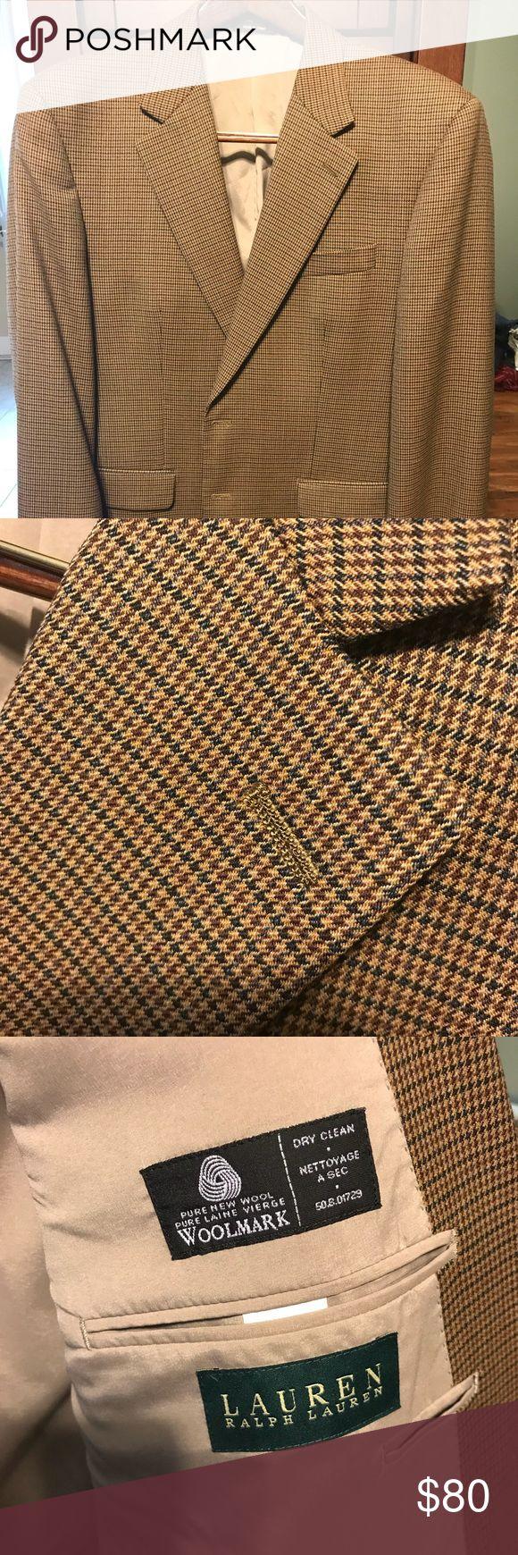 Ralph Lauren wool sport coat - like New! 100% wool sport coat - Ralph Lauren. 42 regular. Like new! Lauren Ralph Lauren Suits & Blazers Sport Coats & Blazers