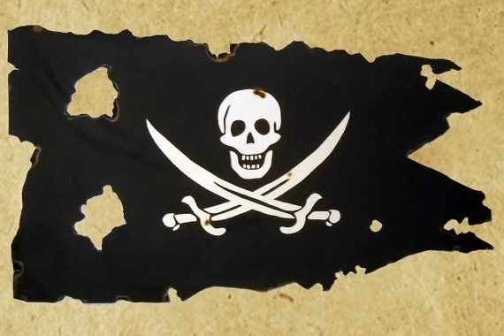 3' X 5' Pirate Flag: Battle-Worn Canvas Calico Jack by Libertalia