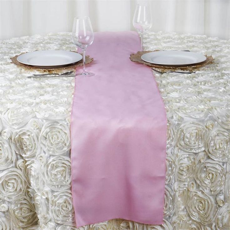 Pink Polyester Table Runner | Plan as many events as you want and invite as many guest as you desire without even worrying about the expenses and your budget. With our sturdy and economical polyester table runners, you can now transform any dining experience into a magnificent feast with an upscale feel and an elite look without breaking the banks. Get inspired by this premium quality polyester table runner that opens the gates of creativity and ingenuity. With such a high standard material…