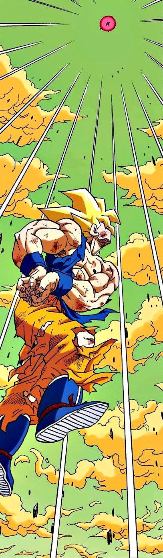 Goku about to fire Kamehameha