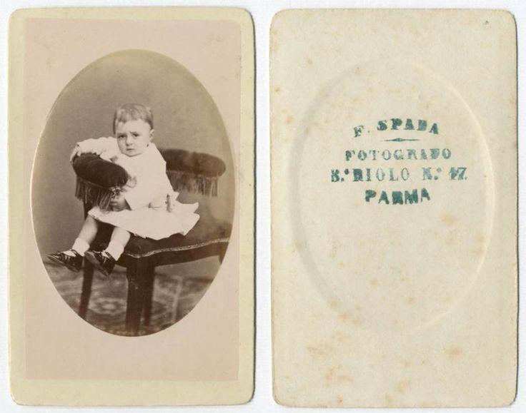 BIMBA CDV 832 Foto F.Gabinetto.Carte da Visite.Albumina.Spada Francesco Parma