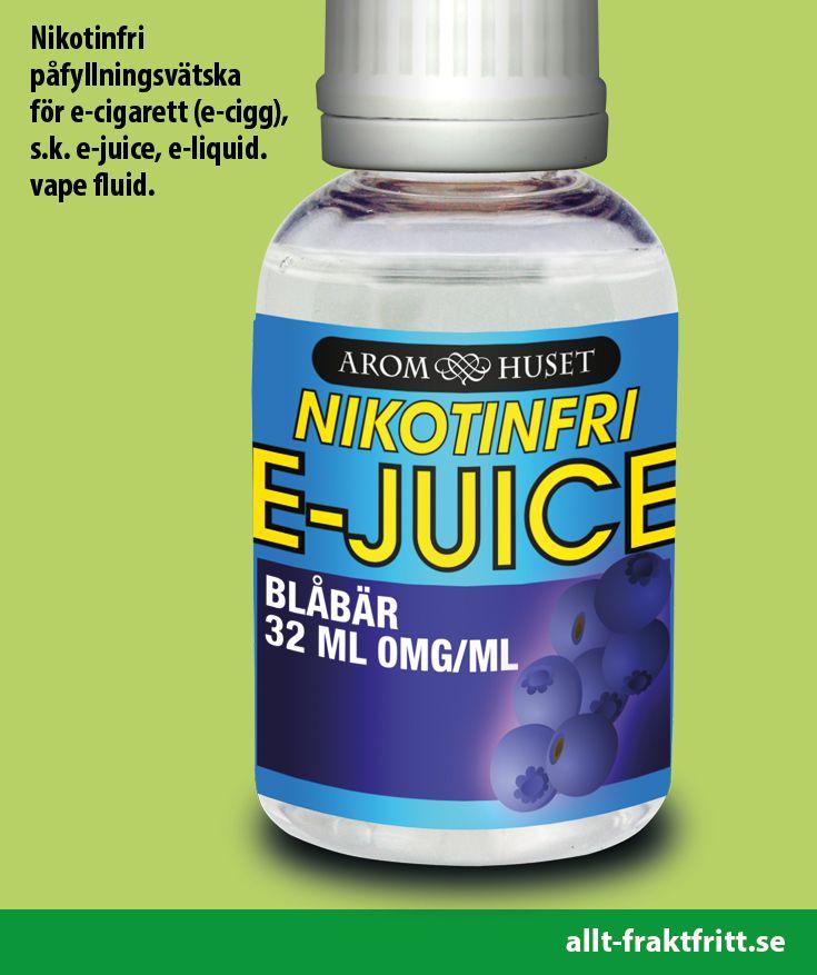 Nikotinfri E-juice Blåbär 32ML