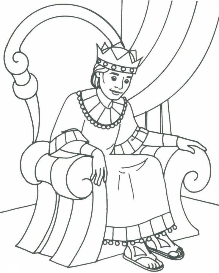 Bible david as king coloring pages bible class ideas for King joash coloring page