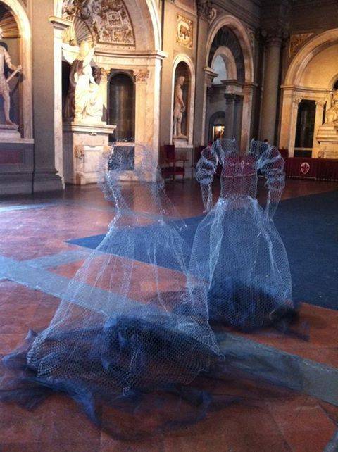 fabulous chickenwire ghosts!