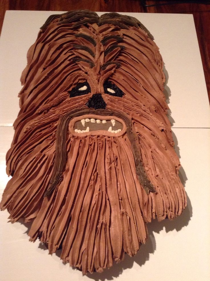 Chewbacca cupcake pull apart cake made with 36 cupcakes