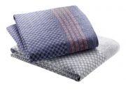 Grubentuch Touchon 100% Baumwolle Blau/Grau 50x100 cm