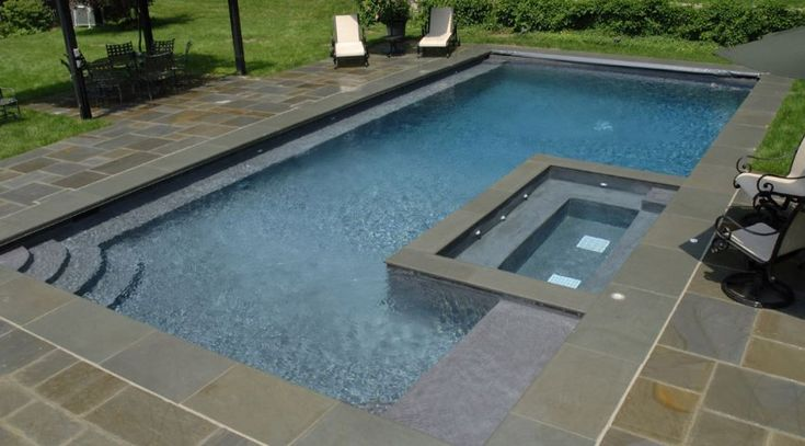 25 beste idee n over liner piscine op pinterest liner for Liner gris anthracite piscine