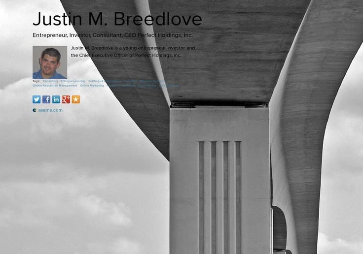 Justin M. Breedlove's page on about.me – http://about.me/justinmbreedlove