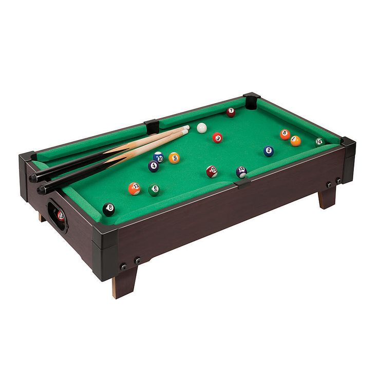 """Sportcraft 27"""" Mini Table Billiards Game Desk Top Pool W/ Balls&Sticks Kids Fun #Sportcraft"""