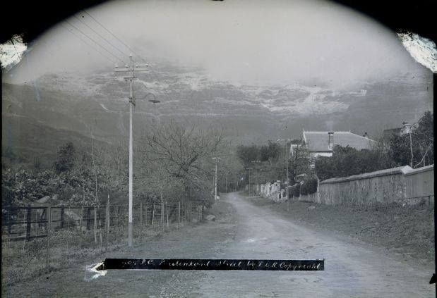 To the time it snowed on Table Mountain in 1909. Photo taken from Buitenkant Street.