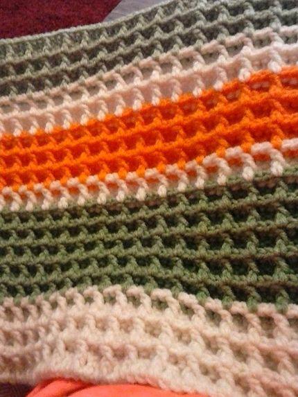 Waffle Stitch (Crochet Tutorial) ༺✿ƬⱤღ  http://www.pinterest.com/teretegui/✿༻
