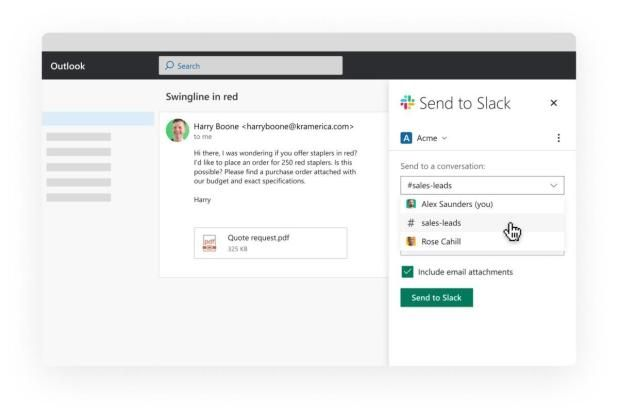 Slack Adds Email Calendar And File Integrations For Office 365