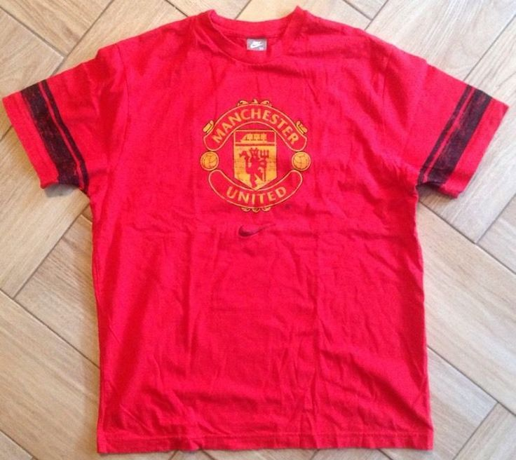 Nike Manchester United Shirt Sz XL Red T-Shirt Soccer Football Athletic Tee EUC #Nike #ManchesterUnited