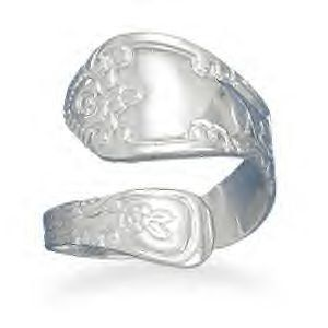 Superb Polished Silver Spoon Ring