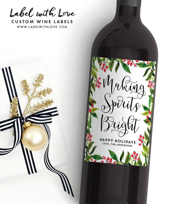 Christmas Wine Labels - Unique Holiday Gift Ideas 2016. Christmas Gift Ideas on a Budget. Custom Wine Labels. by LabelWithLove
