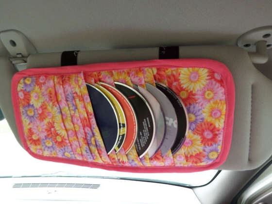 Sun visor CD holder...my husband has been wanting one but we haven't been able to find one to buy....and I have all of the materials at home!