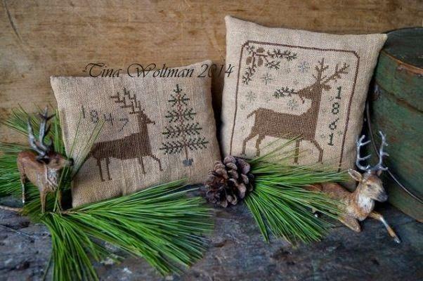 New cross stitch patterns by Tina Woltman.