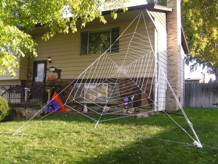 gigantic halloween spider web - Giant Halloween Decorations