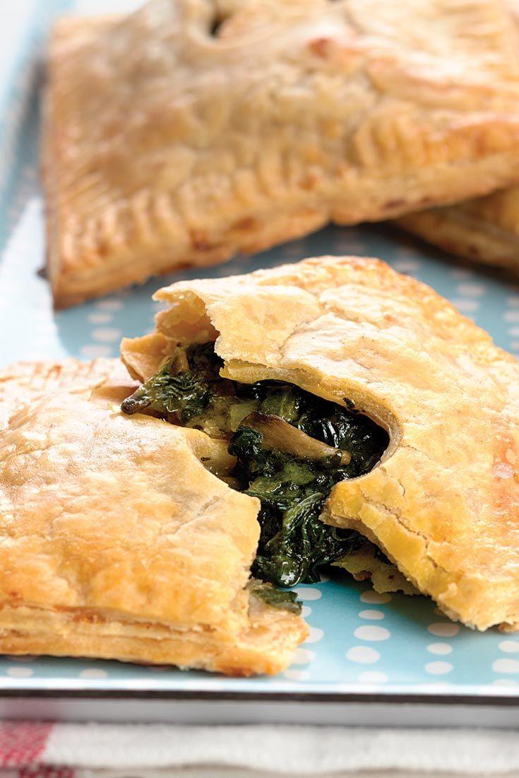 Spinach & Mushroom Hand Pies Recipe