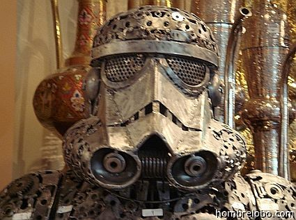 Steampunk Stormtrooper. Also reminds me of power armor from the Fallout series.