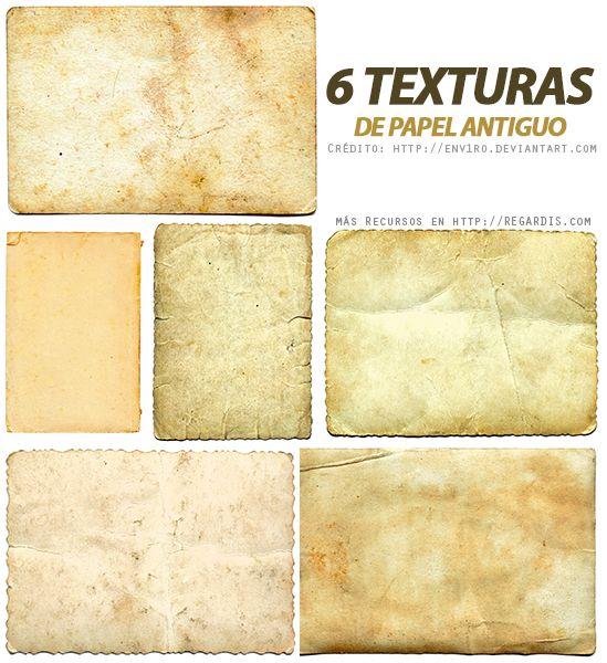 6 Texturas de Papel Antiguo                                                                                                                                                                                 Más