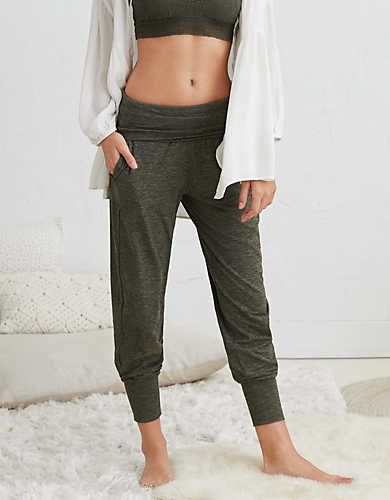 AERIE REAL SOFT® JOGGER PANT - Real Soft® is our softest, comfiest, most awesome feeling fabric. It fits & drapes like a dream. You know & love it (because it is totally unforgettable, just like you)!