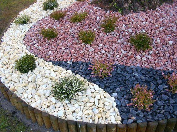 decoracion actual de moda jardn de piedras