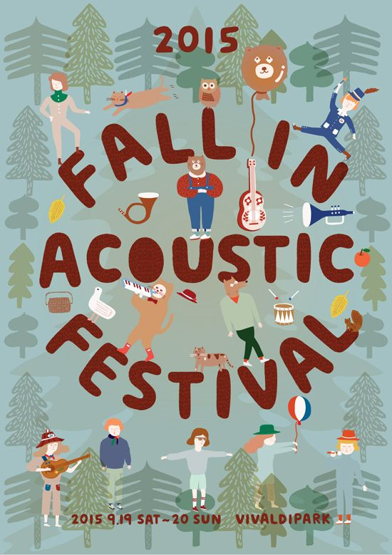 Fall in Acoustic Festival 2015  / Illustrations by Circus boy band