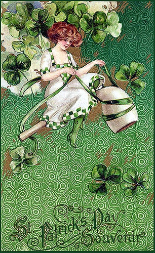 Free Vintage St Patrick's Day / Erin go Bragh Clipart or scrapbook Download