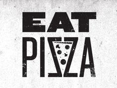 pizza typography