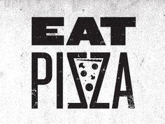 pizza typography