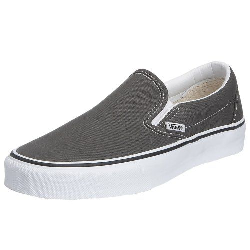 Vans Unisex's VANS CLASSIC SLIP-ON SKATE SHOES 6.5 (CHARCOAL). 100% Authentic. Brand New. Variation Attributes: (8 B(M) US Women / 6.5 D(M) US Men) Size. Original Packaging. Durable.