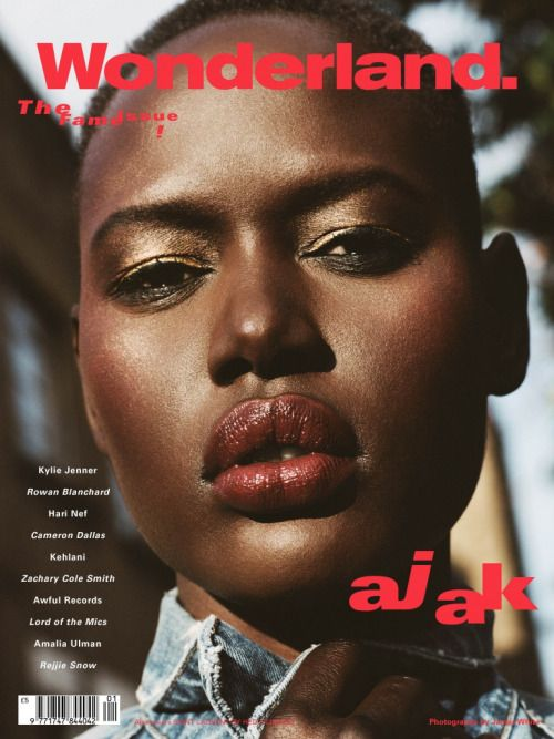 The Fame Issue: Model Ajak Deng by James White for Wonderland Magazine.