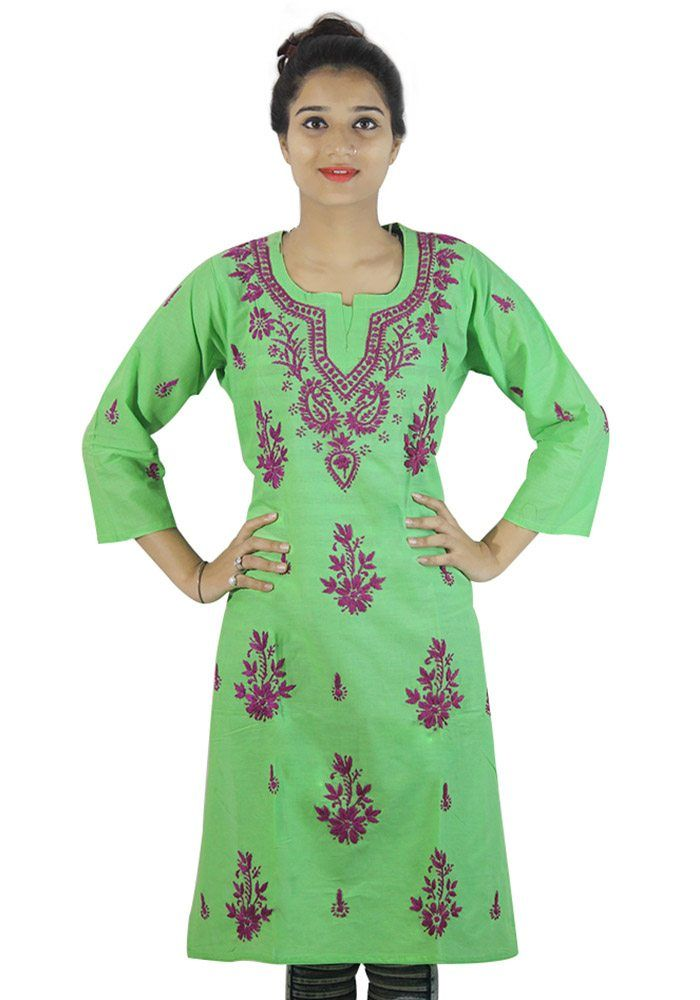 http://fabolic.com/product/womens-chikan-kurti-green-colored/